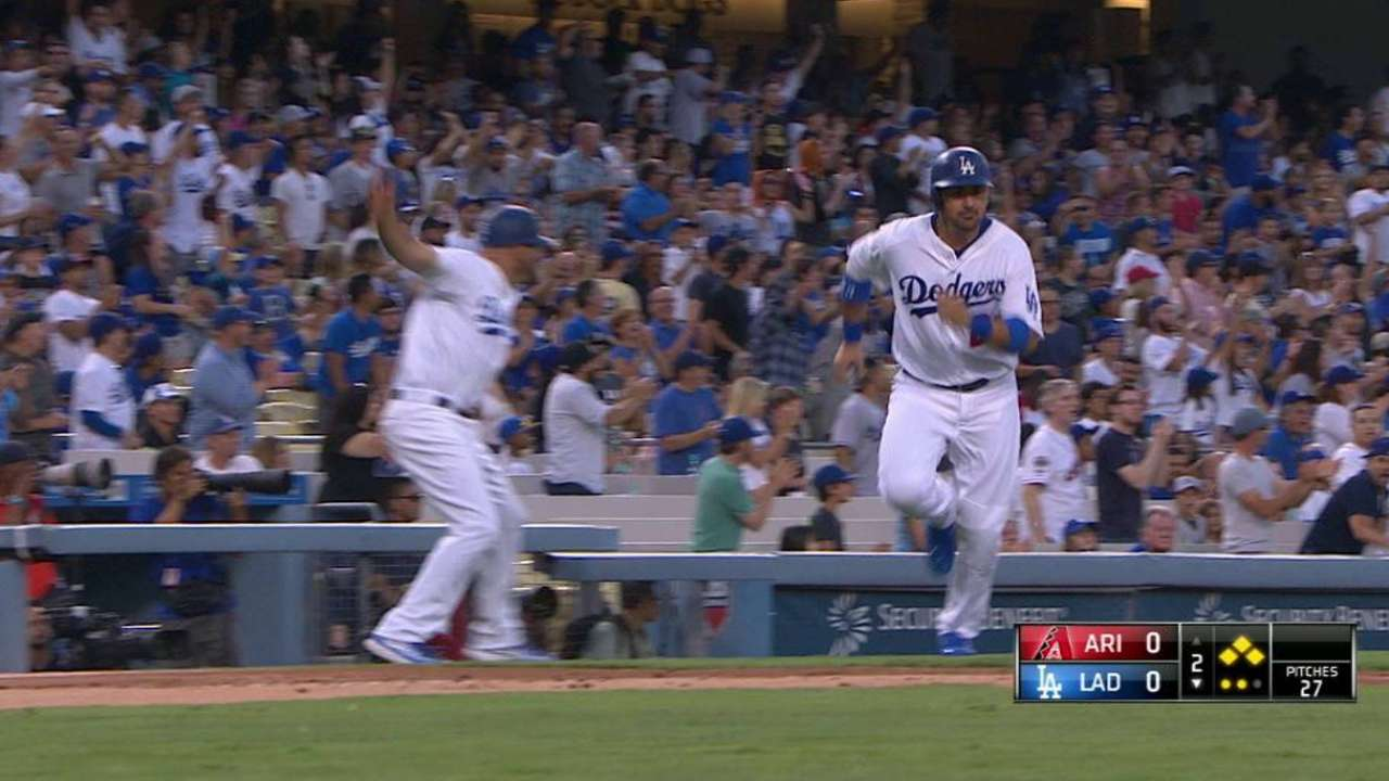Dodgers remontan 5 carreras y vencen a los D-backs