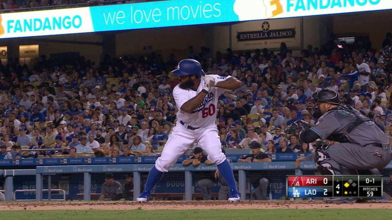 Dodgers recall outfielder Toles, option Taylor