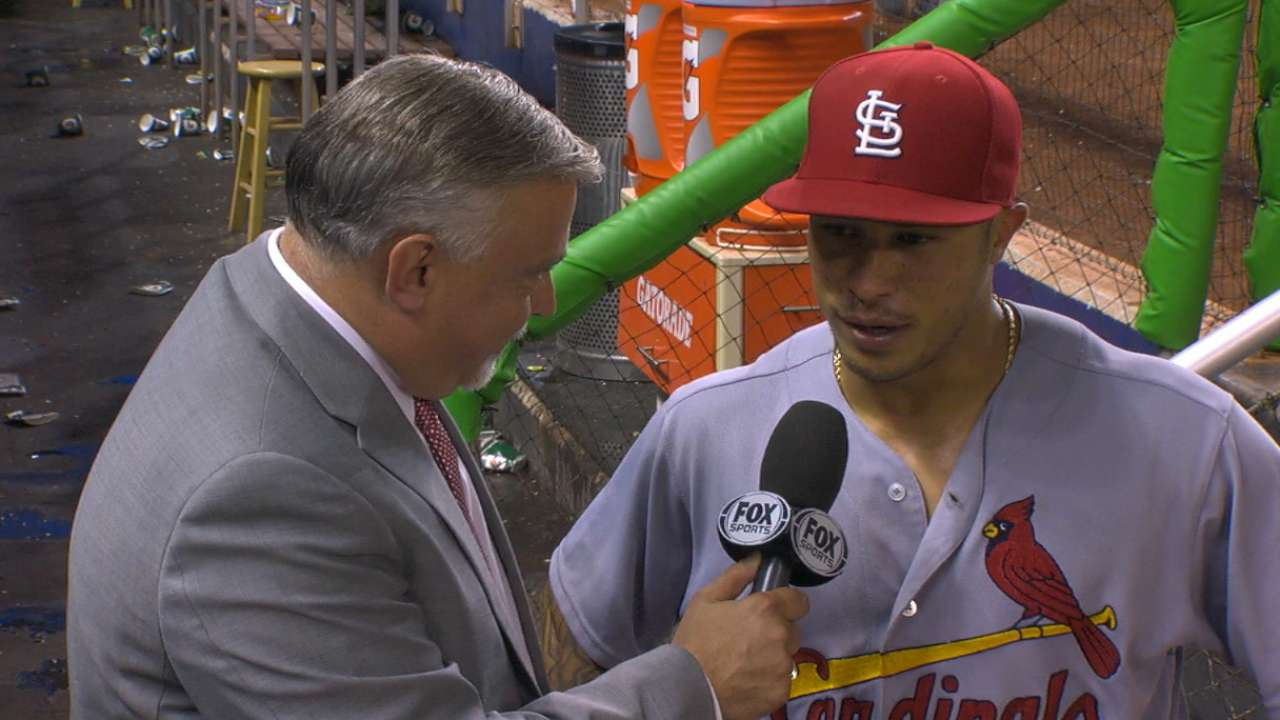 Wong on his night with the bat