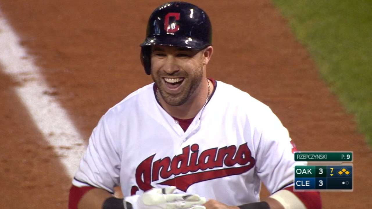 Indians' late rally fuels wild victory over A's