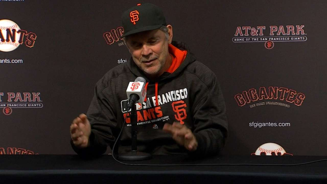 Bochy on 4-1 loss to Nationals