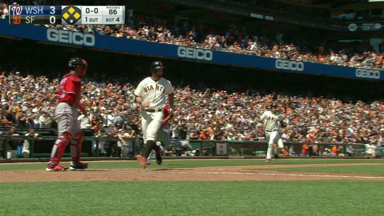Nunez's two-run double