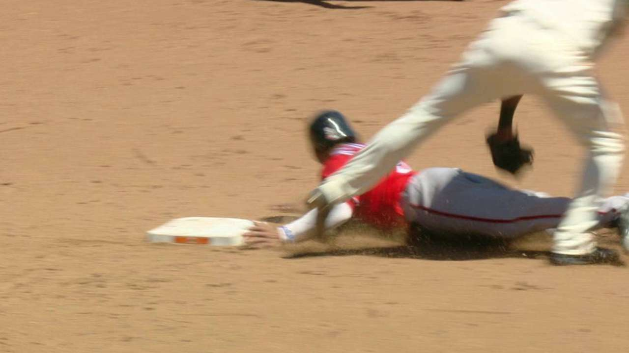 Posey catches Revere stealing