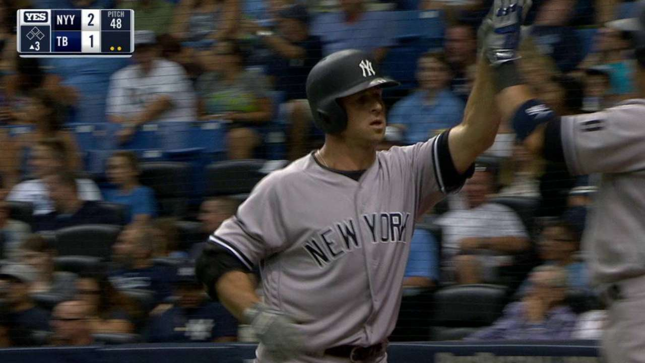 Yanks outslugged by Rays in 3rd straight loss