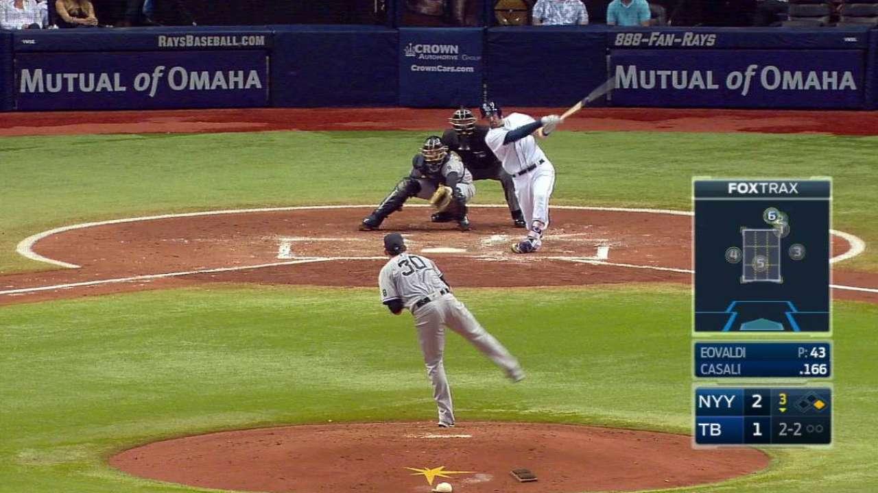 Casali's two-run home run