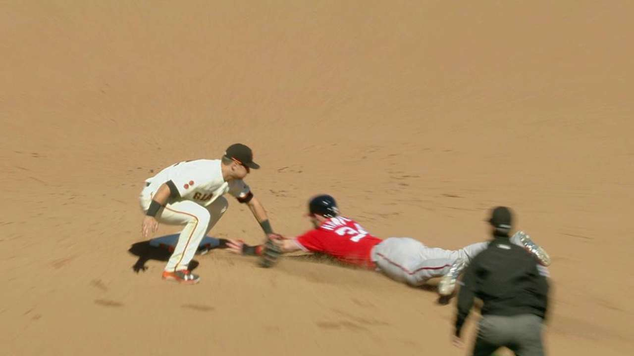 Posey, Giants cracking down on base thieves