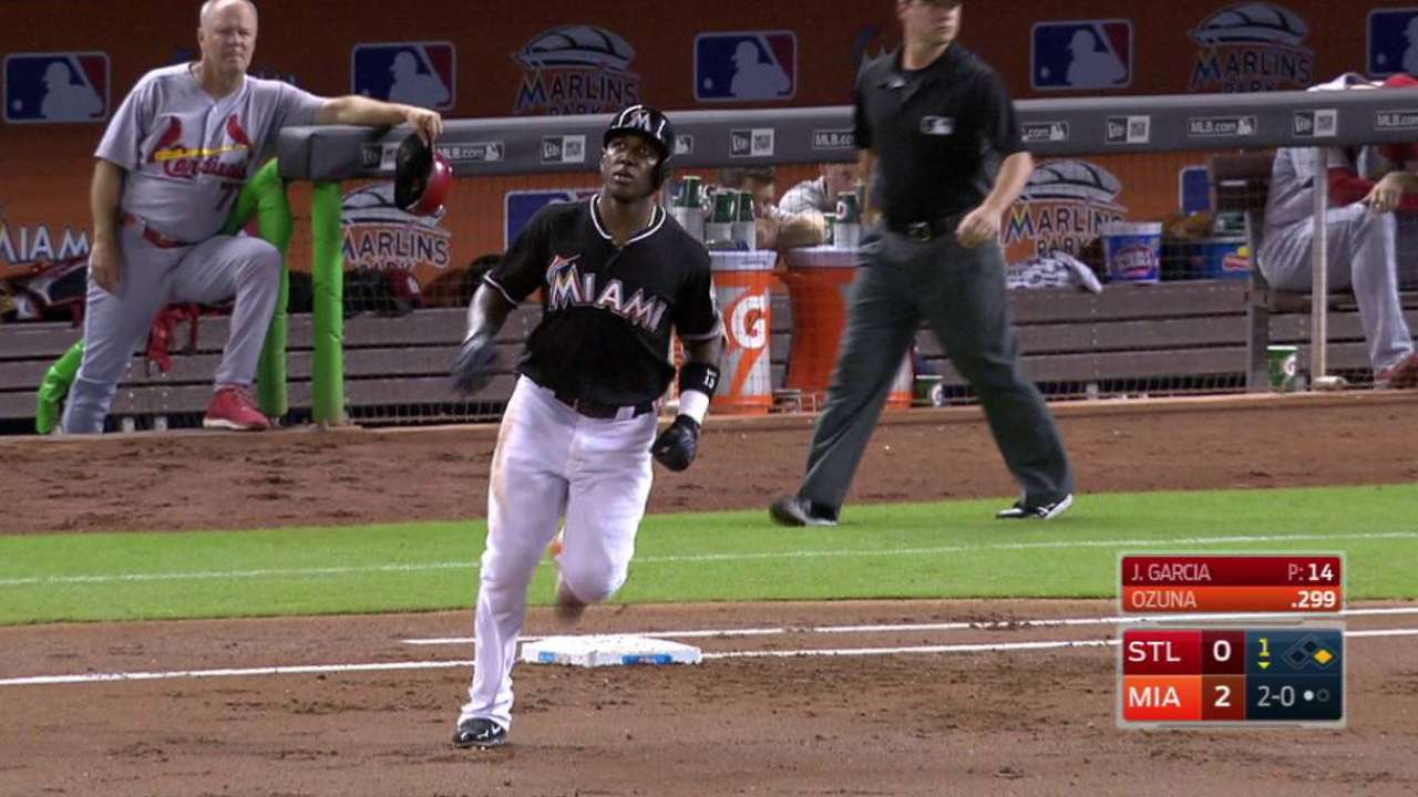 Ozuna's two-run home run