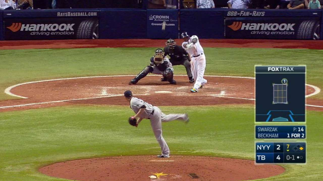 Rays outslug Yanks as Smyly picks up win