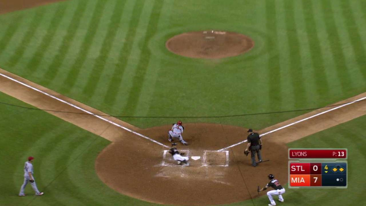 Yelich's second RBI