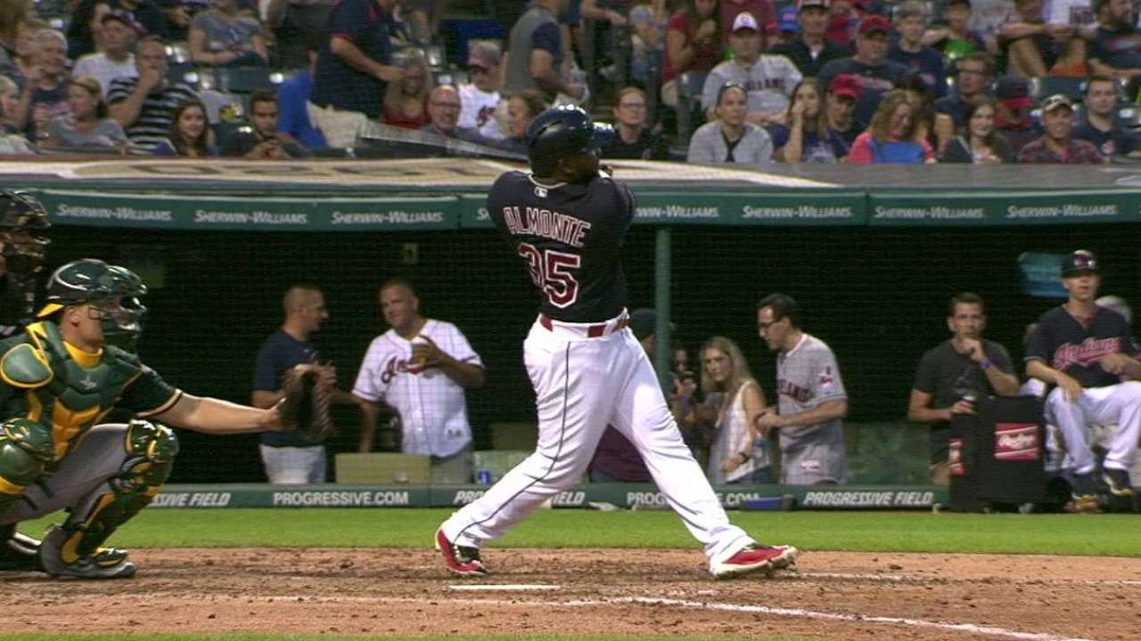 Almonte's first homer of season