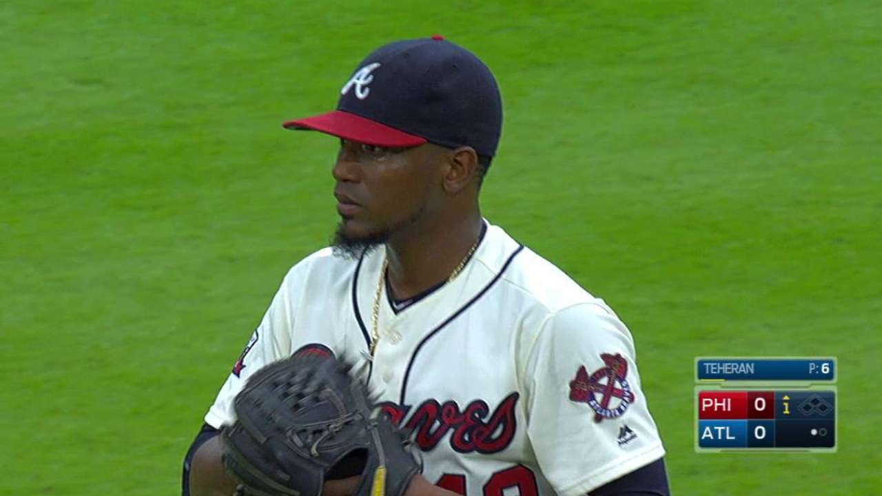 Teheran placed on DL with back ailment