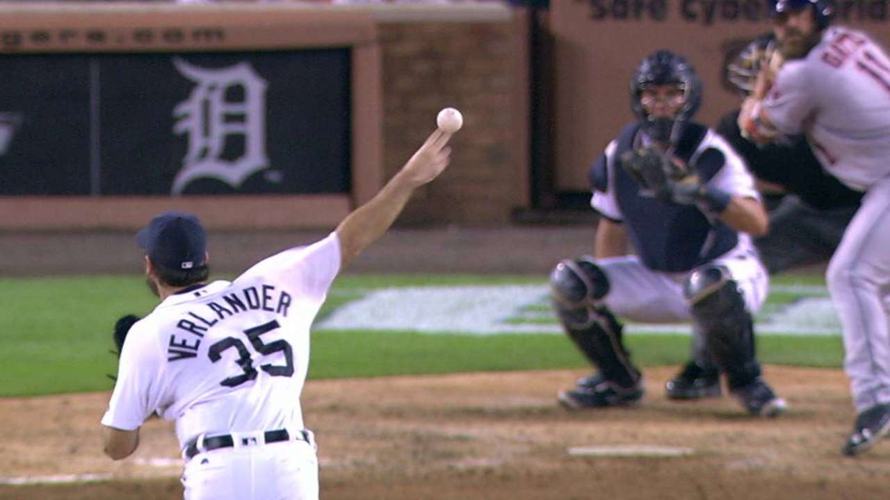Verlander records 10th strikeout