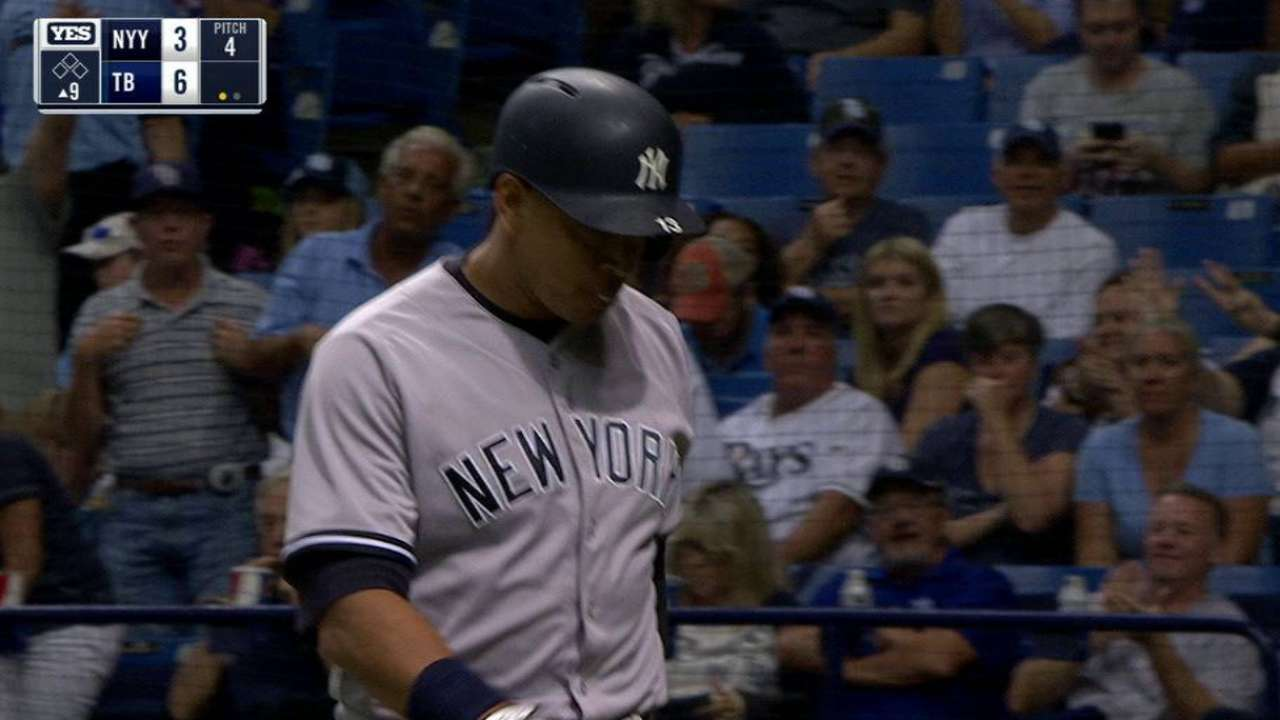 A-Rod K's 4 times in first start since July 22