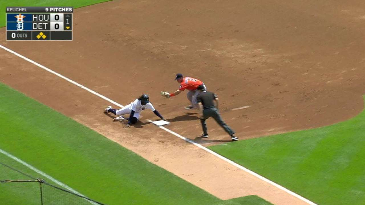 Rasmus throws out Maybin