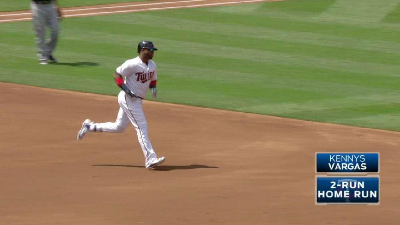 Vargas' two-run home run