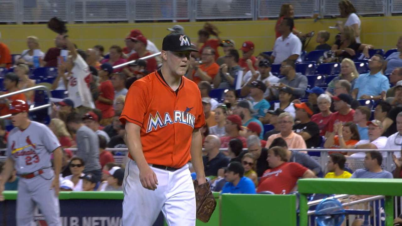 Cashner's debut with the Marlins