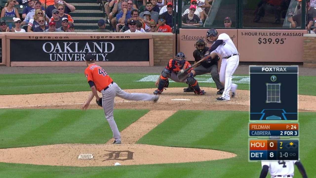 Tigres barren a Astros detrás de jonrones de Miguel Cabrera
