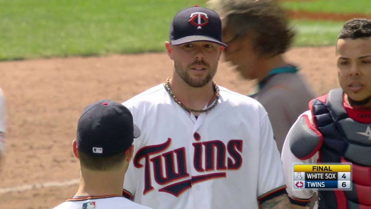 Pressly earns first career save