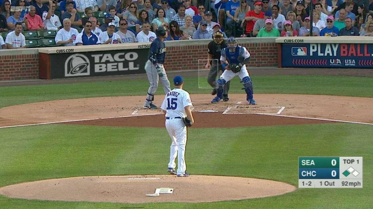 Matusz's first Cubs strikeout