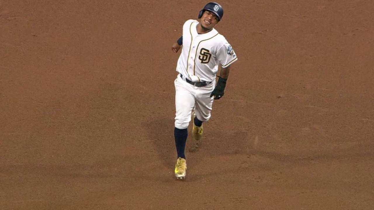 Amarista exits game with hamstring strain