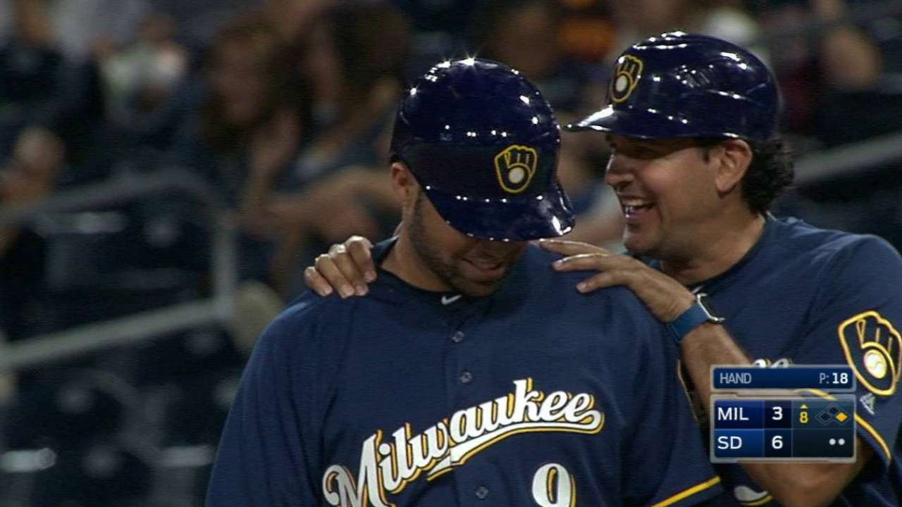 Patience pays off for Brewers' Pina
