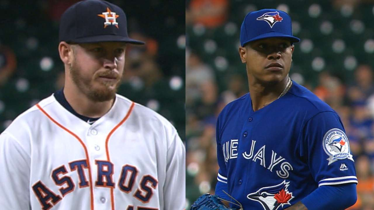 Astros, Blue Jays rack up 40 strikeouts