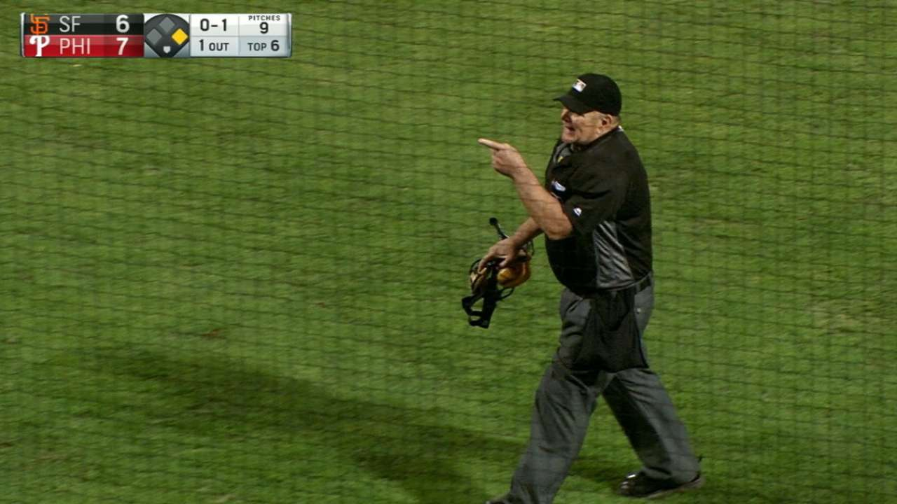 Home-plate umpire ejects fan