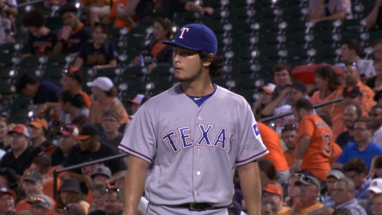 Darvish piling up strikeouts post TJ surgery