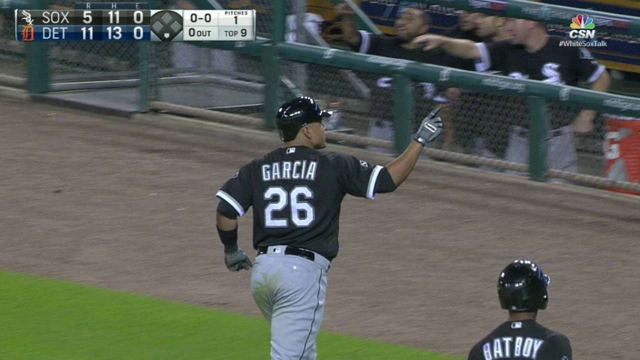 Garcia makes most of time, hits 2 HRs in 2 at-bats