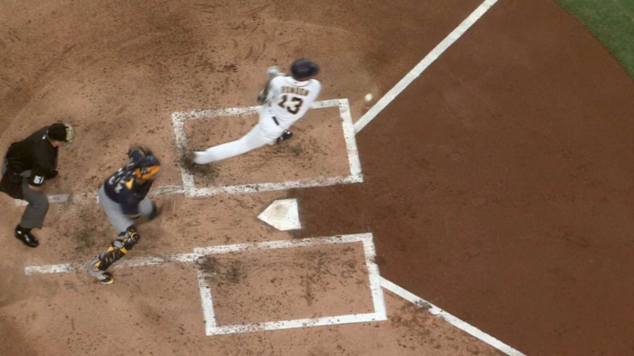 Brewers benefit from odd play