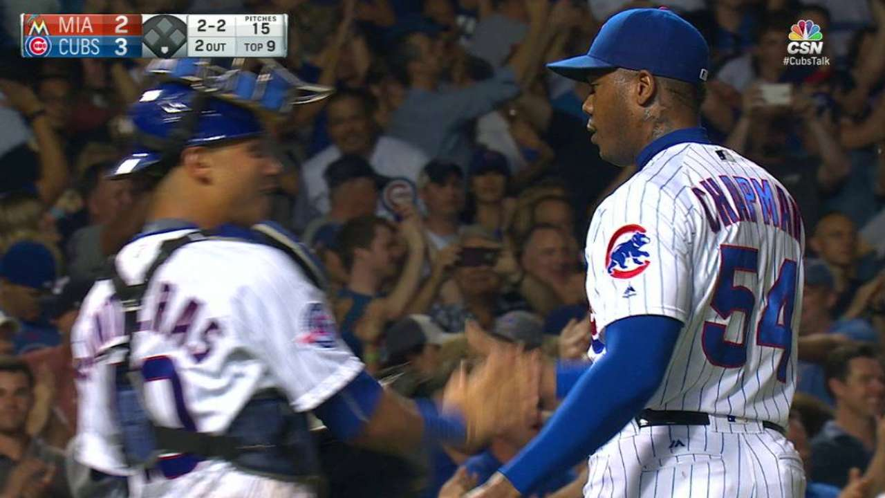 Chapman notches the save