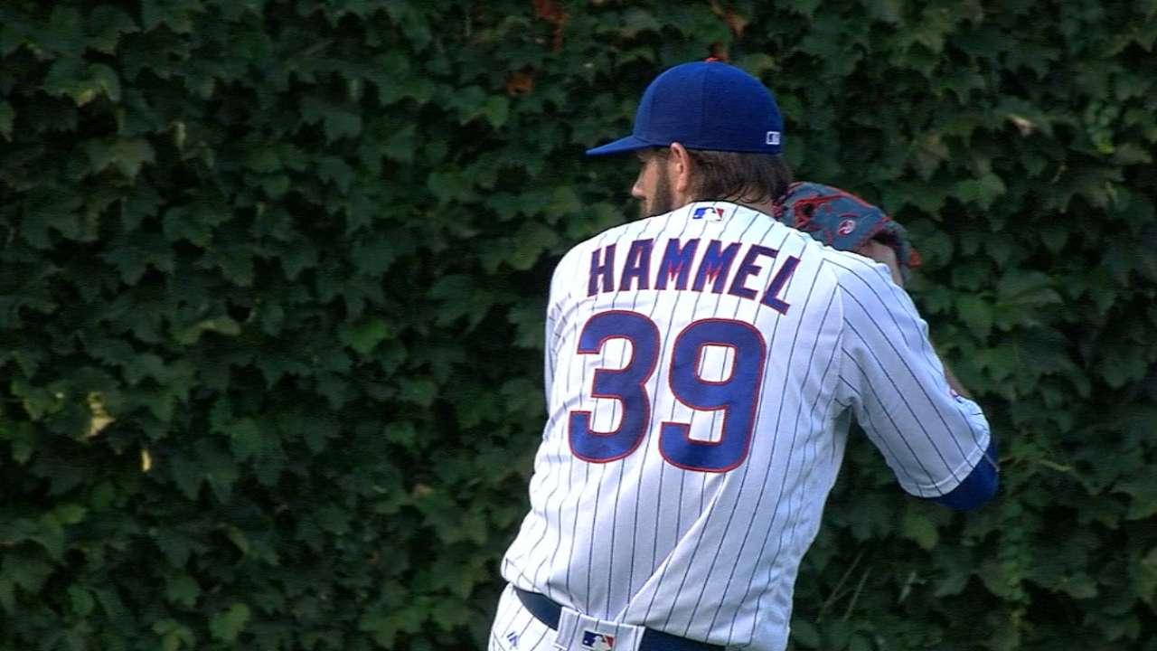 Cubs place Hammel on bereavement list