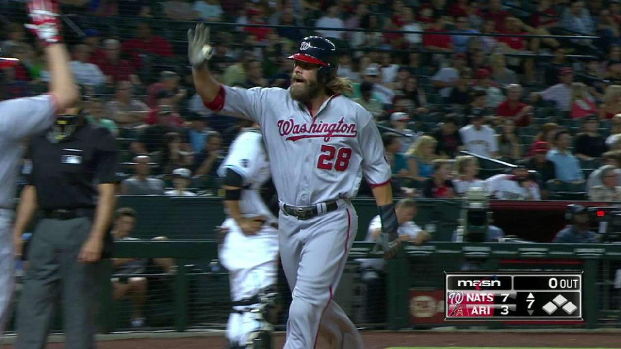 Nats ride homers to another rout of D-backs