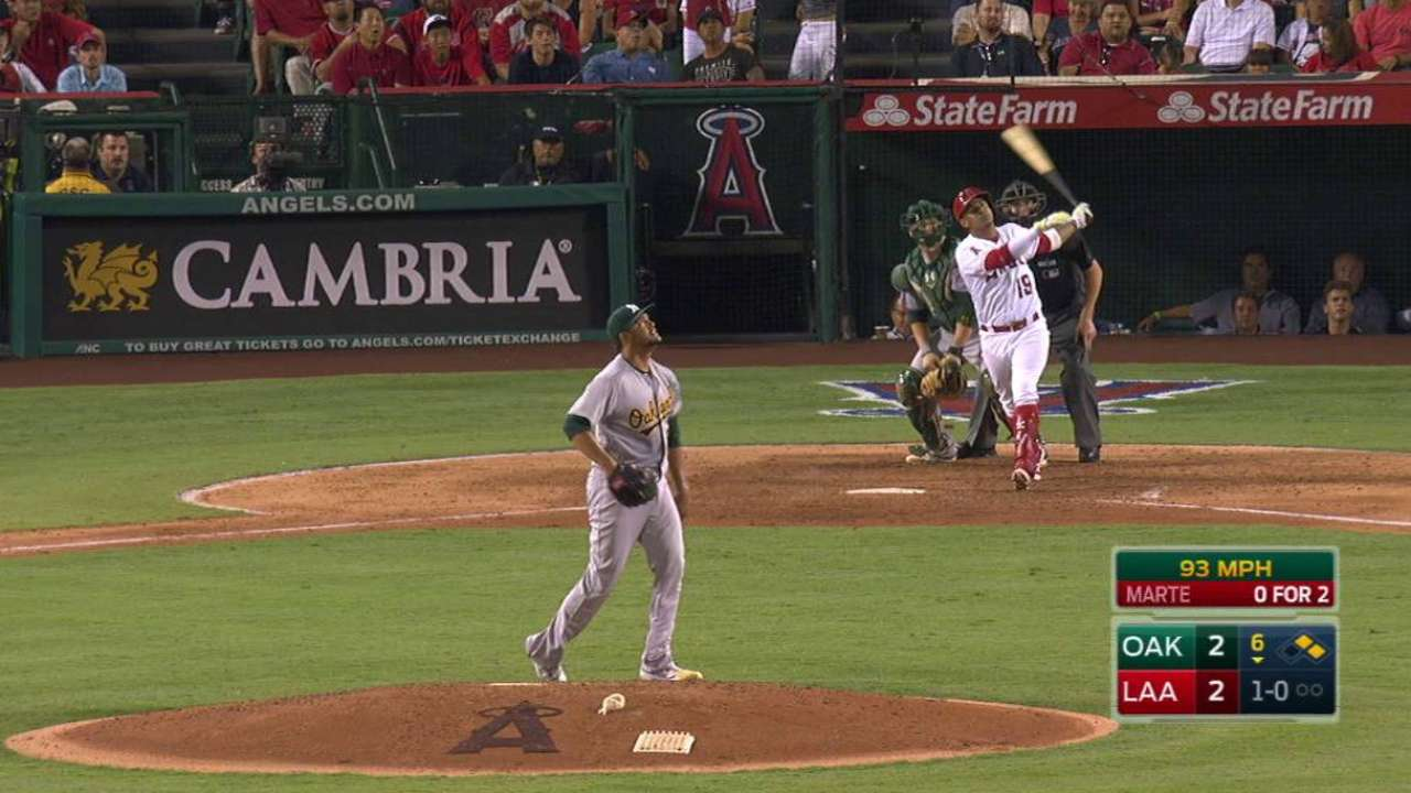 Bandy, Marte homer to lead Halos over A's