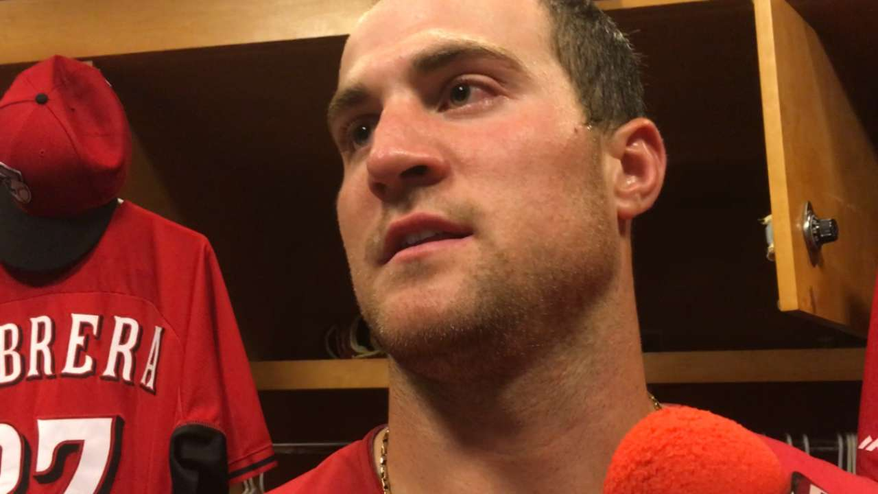 Welcome-back party: Schebler rescues Reds