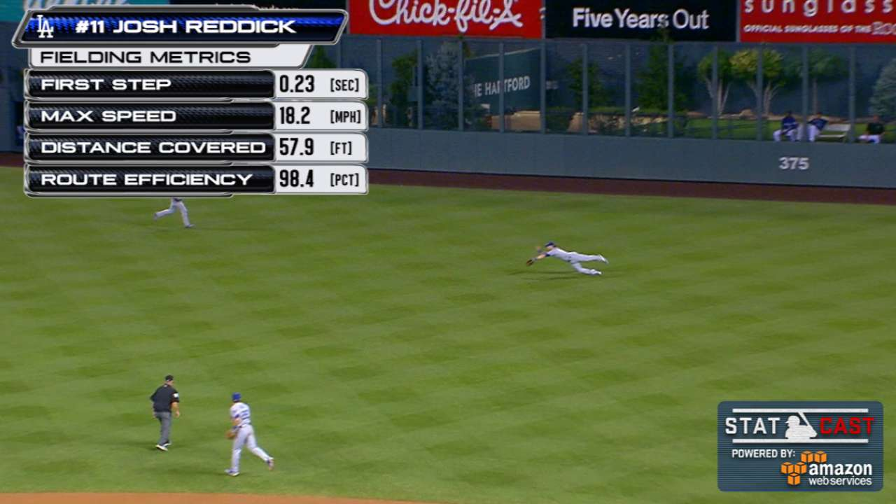 Statcast: Reddick's diving catch