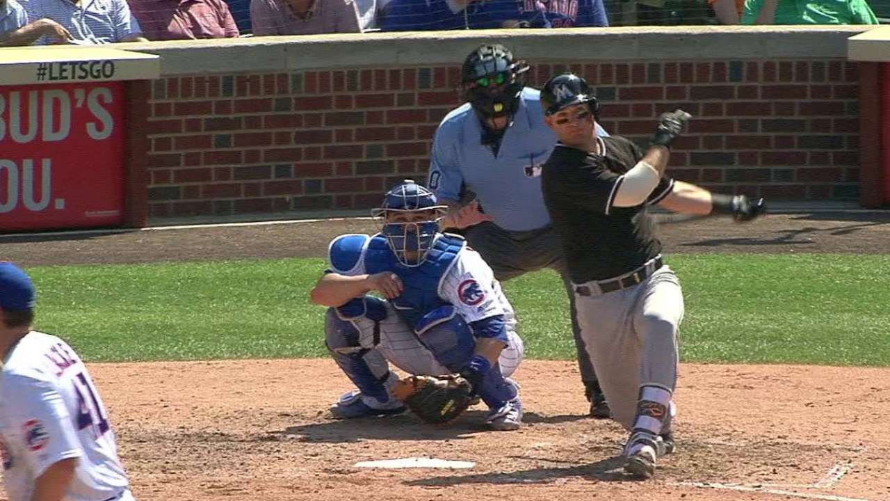 Mathis homers off former batterymate Lackey
