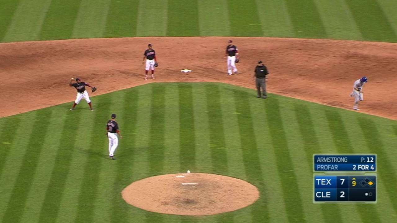 Indians add reliever Armstrong, option Merritt