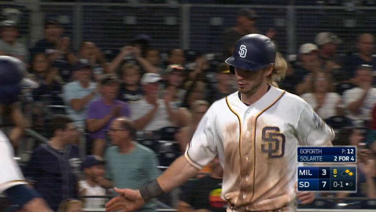 Scoring change gives Padres a steal of home