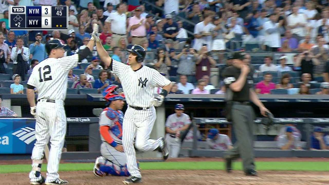 Yanks cruise past Mets after Tex's early 3-run HR