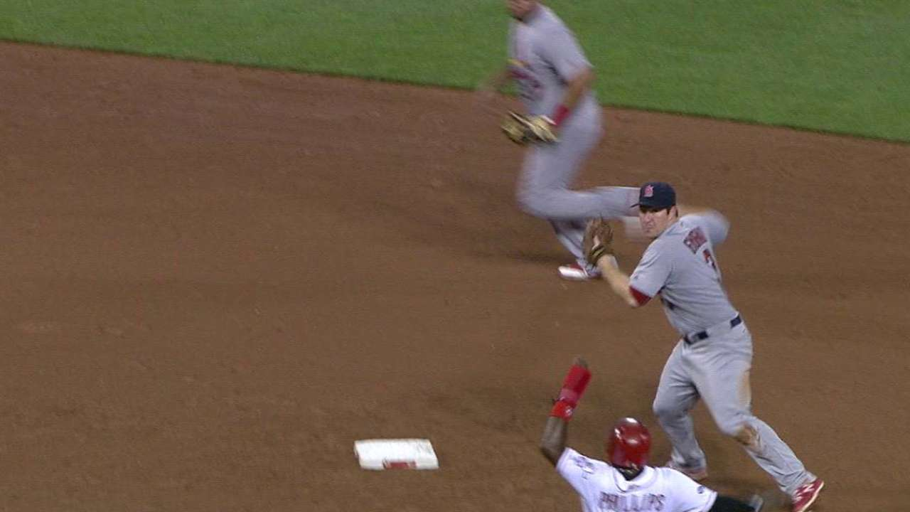 Phillips safe at second