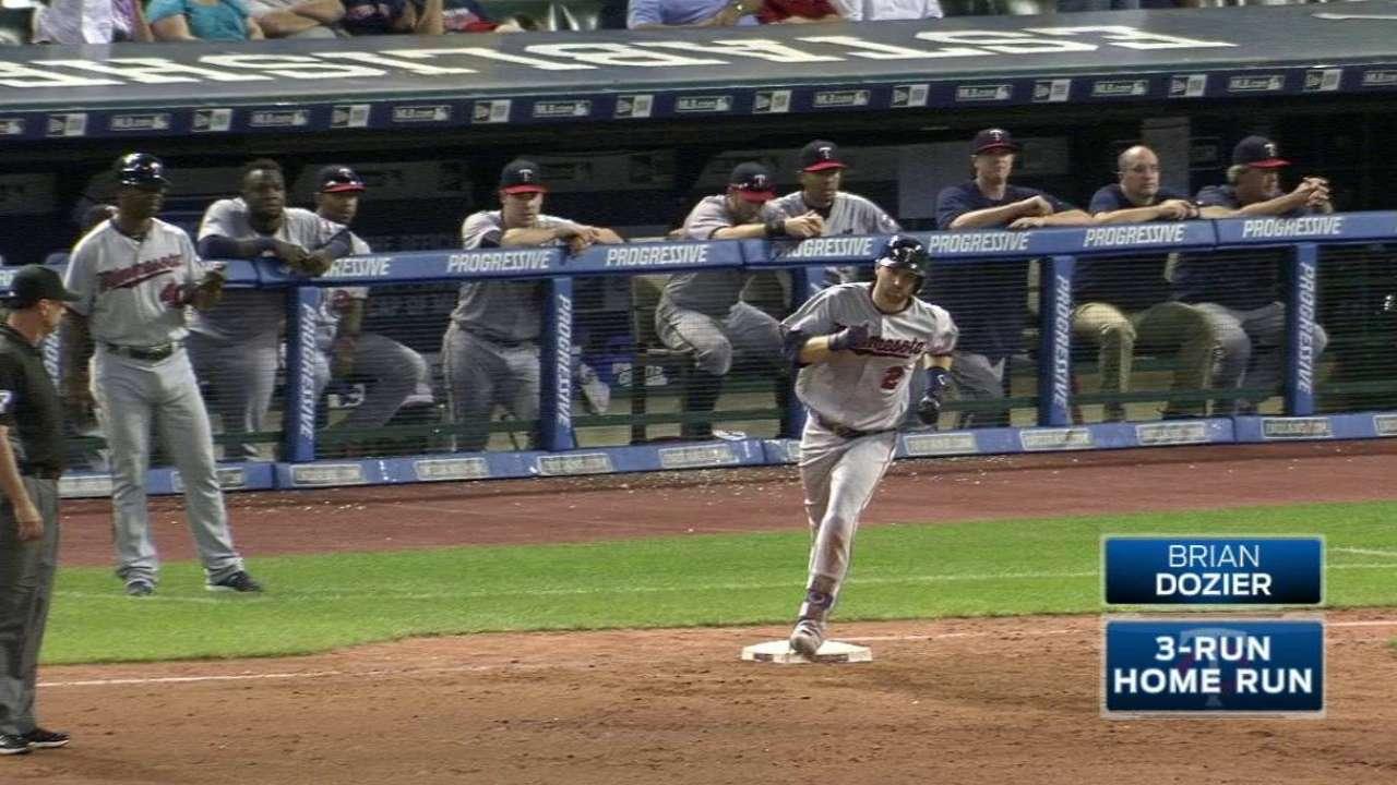 Dozier's three-run long ball