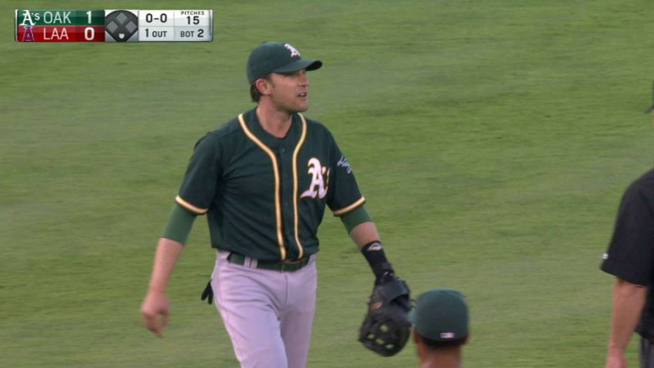 A's proceeding with caution with Lowrie's foot