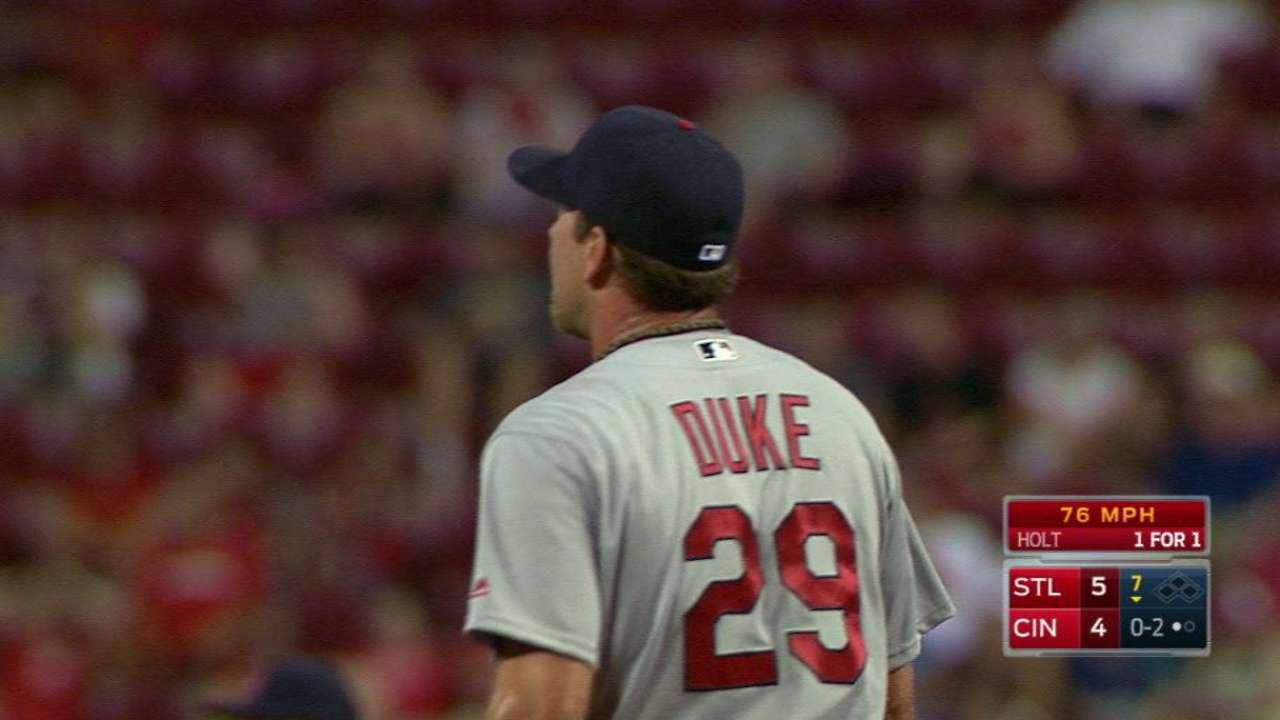 Duke strikes out Holt