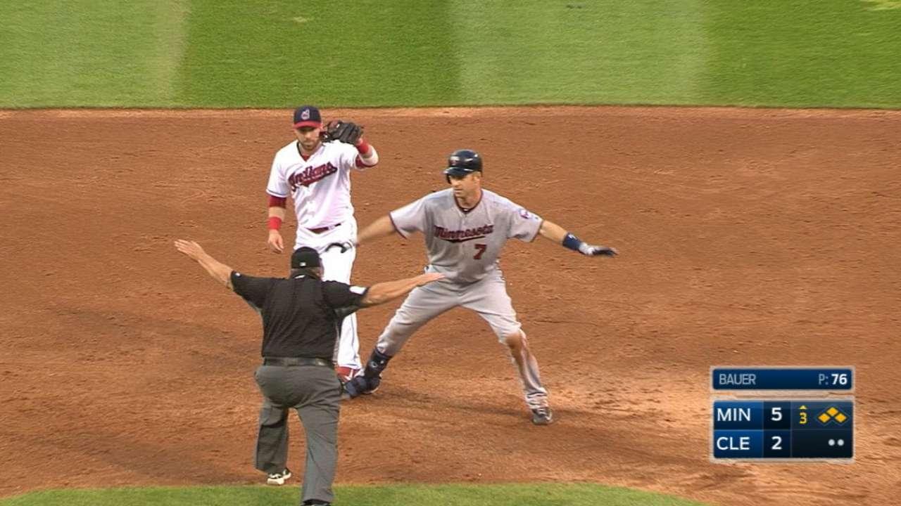 Mauer's four-hit, four-RBI game