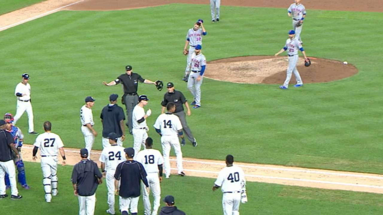 Benches clear in the Bronx