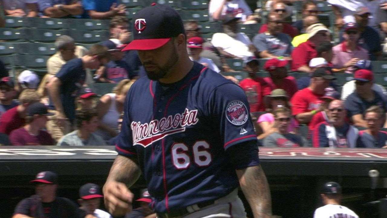 Santiago's first K with Twins