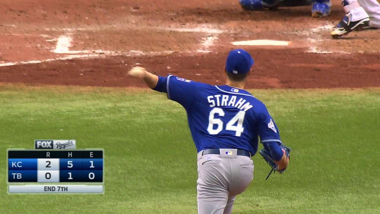Strahm works out of trouble