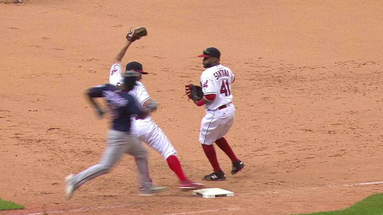 Shaw induces double play