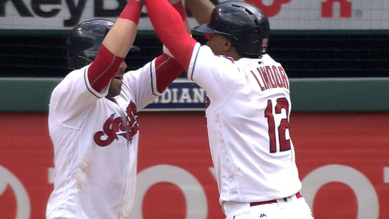 Indians take finale, overpower Twins with 4 HRs